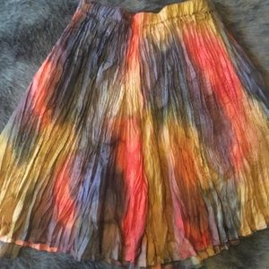 Dresses & Skirts - Watercolor Crepe Mini Skirt